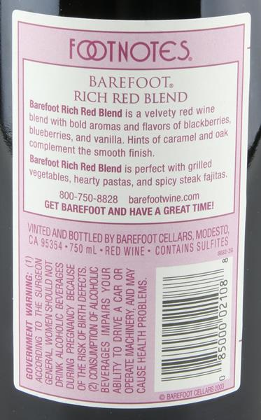 Barefoot Rich Red Blend Wine | Hy-Vee Aisles Online Grocery Shopping
