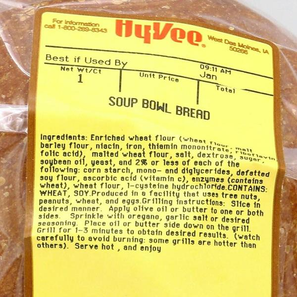 Soup Bowl Bread